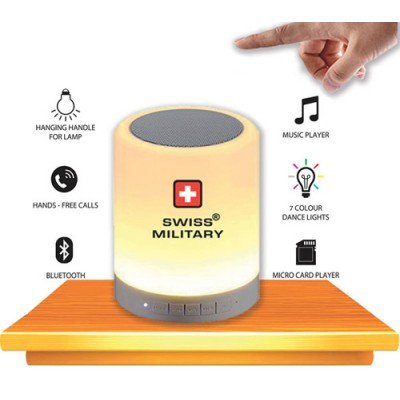 Giftsuncommon - Swiss Military Touch Lamp with Bluetooth speaker