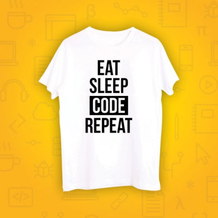 Giftsuncommon - Eat Code Sleep Repeat Printed Tshirt