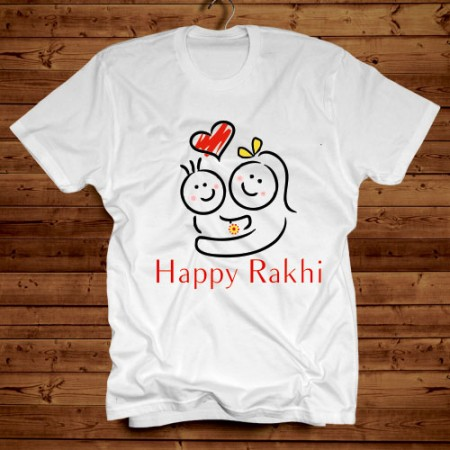 Giftsuncommon - Happy Rakhi Printed Tshirt
