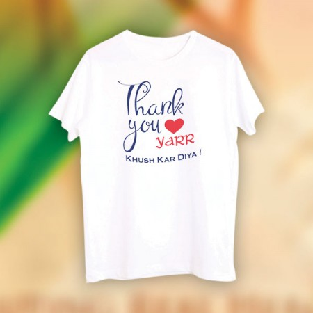 Giftsuncommon - Thank You Yaar Printed Tshirt