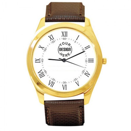 Giftsuncommon - Gold Dial Case Wrist Watch