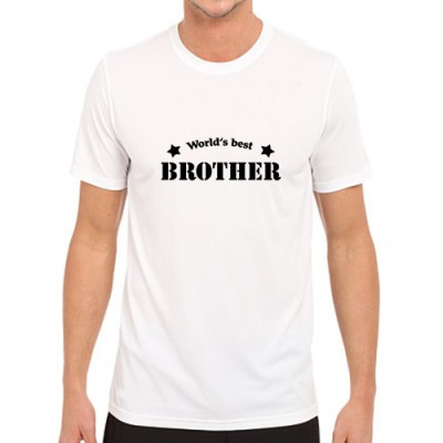 Giftsuncommon - Worlds Best Brother Printed T Shirt