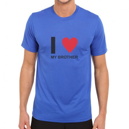 Giftsuncommon - I love Brother Logo Printed T Shirt
