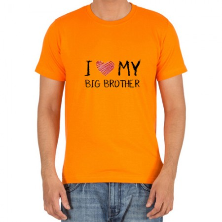 Giftsuncommon - I Love You Big Brother Printed T Shirt