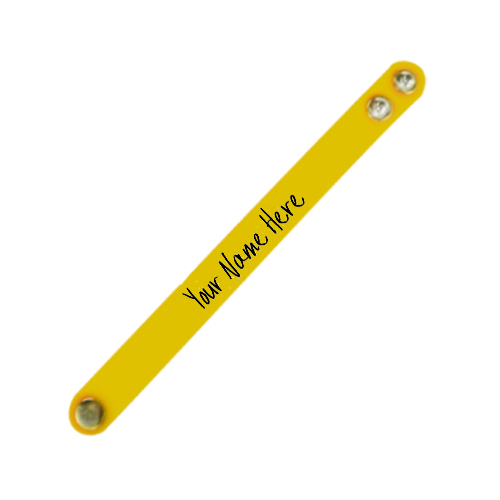 Giftsuncommon - Printed Name Wristband Yellow