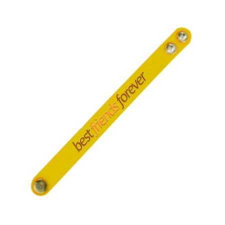 Giftsuncommon - Best Friend Forever Printed Wristband Yellow