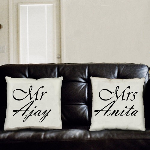 Giftsuncommon - MR and Mrs Name Printed Pillow