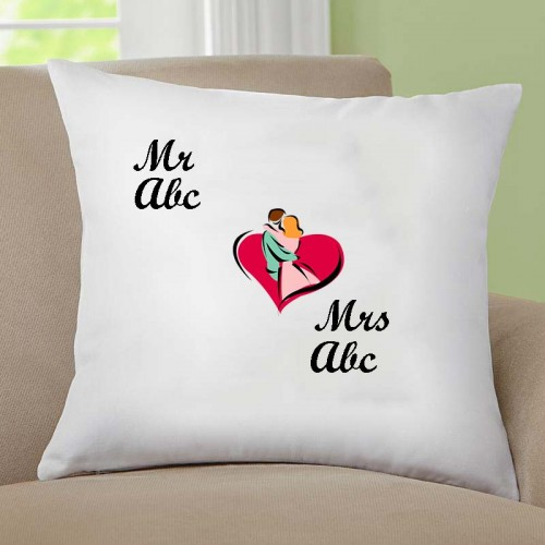 Giftsuncommon - Customized Mr And Mrs White Cushion