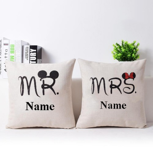 Giftsuncommon - Customized Mr And Mrs Printed cushion