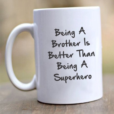 Giftsuncommon - Being A Brother Quote Print Mug