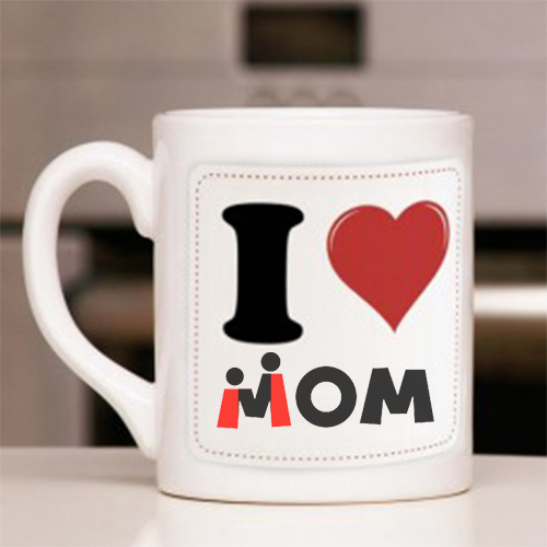 Giftsuncommon - I Love U Mom Printed Mug