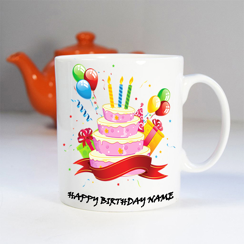 Giftsuncommon - Customized Happy Birthday Name Printed Mug